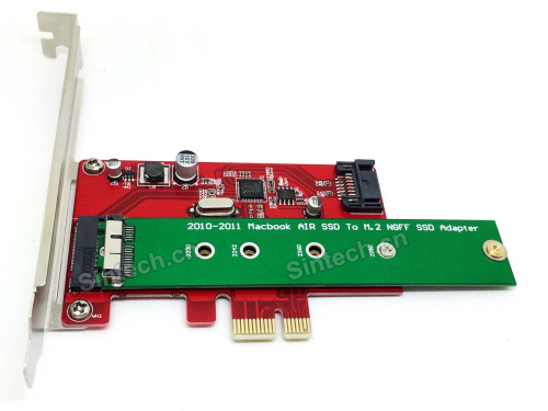 2010-2011 macbook Air SSD+SATA 3 PCI-e X1 adapter card